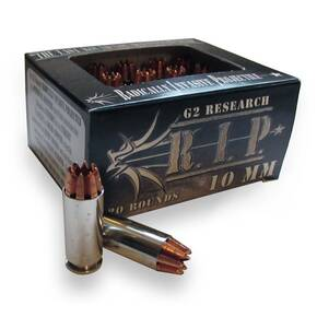 G2 Research R.I.P. Handgun Ammunition 10mm Auto 115 gr 1220 fps 20/ct