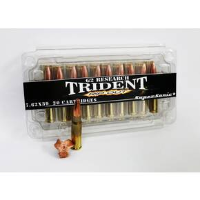G2 Research Trident Rifle Ammunition 7.62 x 39mm 124 gr 2270 fps 20/ct