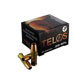 G2 Telos Handgun Ammunition .38 Spl(+P) 105 gr Frangible 1170 fps 20/ct