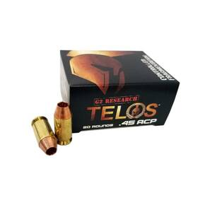 G2 Research TELOS Handgun Ammunition .45 ACP 160 gr HP 920 fps 20/ct