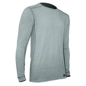 Polarmax Men's Micro H1 Long Sleeve Crew Shirt - Heather Grey