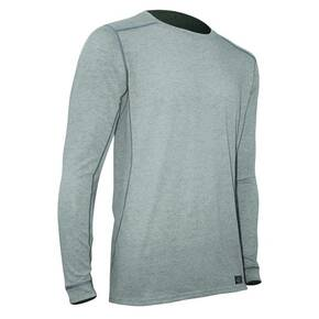 Polarmax Men's Micro H1 Long Sleeve Crew Shirt - Heather Grey Medium