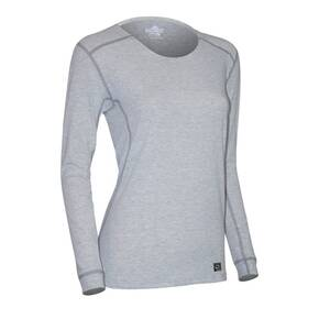 Polarmax Women's Micro H1 Long Sleeve Crew Shirt - Heather Grey