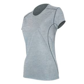 Polarmax Women's Micro H1 Short Sleeve Crew Shirt - Heather Grey Small
