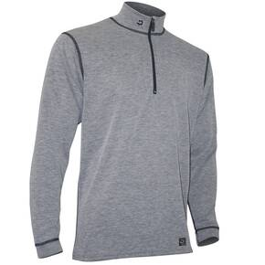 Polarmax Men's Micro H2 Zip Mock Shirt - Heather Grey