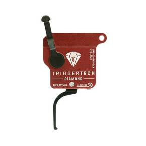TriggerTech Rem Clone Black Diamond Flat Trigger Single Stage Adjustable Black/Red