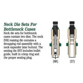 Redding Series B Neck Die Set for Bottleneck Cases .30 Nosler