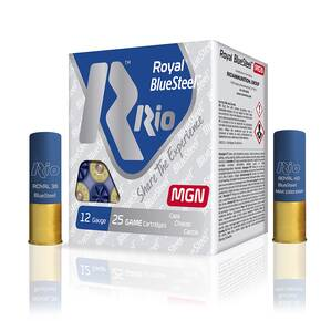 "Rio Royal Blue Steel 12ga 3"" 1-1/4oz #4 25/box"