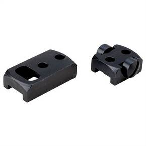 Redfield 2-Piece Steel Rotary Dovetail Extension Scope Base - Rem 700 SA / LA / Left and Right, Ruger 77 RR LA - Black