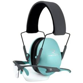 Radians Lowset Ladies Range Combo- Aqua/Charcoal Earmuff & Aqua/Charcoal Glasses
