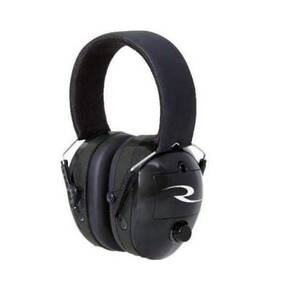 Radians Full Size Passive Ear Muff with 2 Free Ear Plugs - Black NRR 38 DB