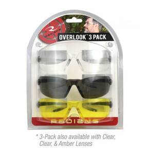 Radians Overlook Glasses Combo Pack - Clear, Clear, Smoke