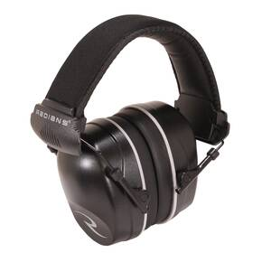 Radians Full Size Folding Slim Cup Ear Muff NRR 34 with Included 2 Pr. Ear Plugs