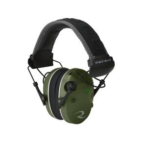 Radians Quad Mic Electronic Earmuff 3.5mm Stereo Jack - 24NRR, Military Green/Black