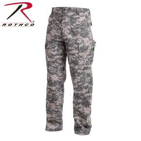 Rothco Army Combat Uniform Pants - Cotton Polyester Rip-Stop ACU Digital Camo