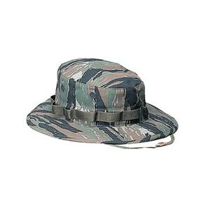 Rothco Camo Boonie Hat - Cotton/Polyester Tiger Stripe