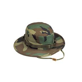 Rothco 100% Cotton Rip-Stop Boonie Hat - Woodland Camo X-Large 7.75""