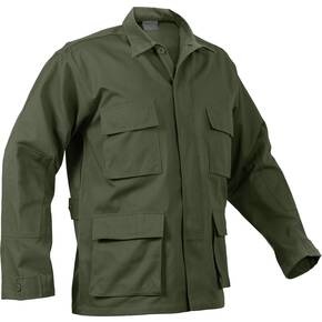 Rothco Rip-Stop BDU Shirt - 100% Cotton Olive Drab Small