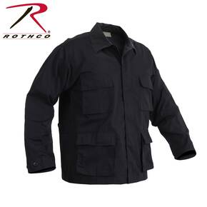 Rothco Rip-Stop BDU Shirt - 100% Cotton Black Medium