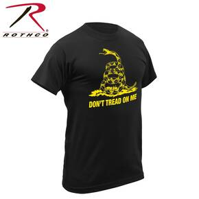 Rothco Don't Tread On Me Vintage T-Shirt - Short Sleeve Black