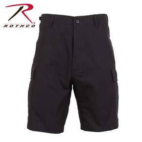 Rothco Rip-Stop BDU Shorts - 100% Cotton Black Medium