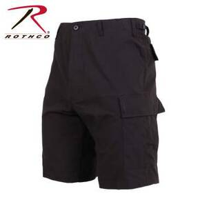 Rothco Rip-Stop BDU Shorts - 100% Cotton Black 2X-Large