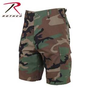 Rothco Rip-Stop BDU Shorts - 100% Cotton Woodland Camo 2X-Large