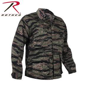 Rothco Camo BDU Shirt - Cotton/Polyester Tiger Stripe