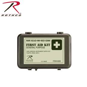 Rothco General Purpose Waterproof OD Military First Aid Kit