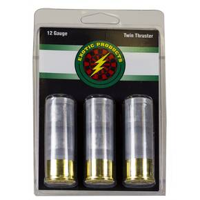 Exotic Twin Thruster Double Slug Shotshell 12 ga 3ct