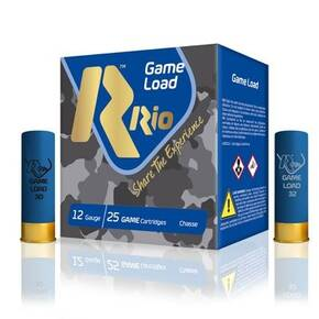 "Rio Super Game 12 ga 2 3/4"" 3 1/4 dr 1 1/8 oz #7.5 1280 fps - 25/box"