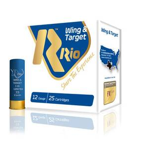 "Rio Wing & Target Light Recoil Shotshells 12ga 2-3/4"" 1oz 1150 fps #7.5 25/ct"