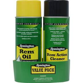 Remigton Clean Action Value Pack with Rem Oil 10oz & Rem Action Cleaner 10oz