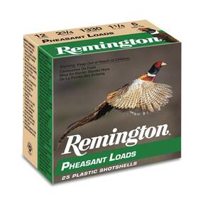 Remington Pheasant Loads Shotshells 12ga 2-3/4 in 3-3/4 dr 1330 fps 1-1/4oz #5 25/ct