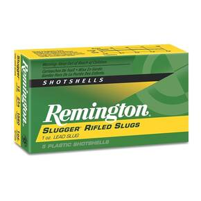 "Remington Slugger Rifled Slug 12 ga 2 3/4"" MAX 1 oz Slug 1680 fps - 5/box"