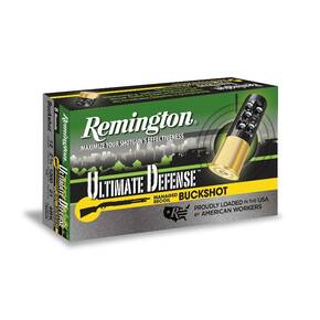 Remington Ultimate Defense Buckshot Shotshells 12 ga 2-3/4 1200 fps 4BK 21 Pellet 5/ct