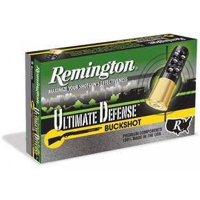 "Remington Ultimate Defense Buckshot Load Shotshell  20 ga 2-3/4"" no. 3 Buck 17 Pellets"