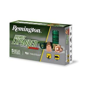 "Remington Premier Expander Sabot Slug Shotshell 12 ga 3"" 1550 fps Slug 5/ct"