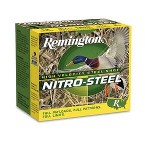 "Remington Nitro-Steel High Velocity Shotshells 12ga 3"" 1-1/4oz 1450 fps #BB 25/ct"