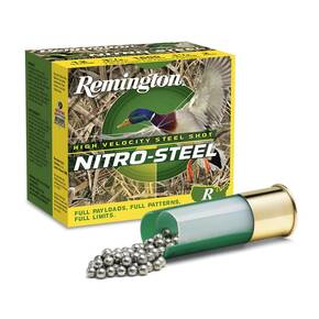 Remington Nitro-Steel High-Velocity Shotshells 20ga 3 in 1 oz 1450 fps #4 25/ct