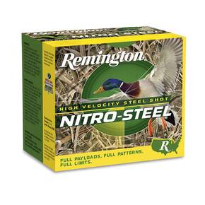 "Remington Nitro-Steel Hi-Velocity Magnum Load Shotshells 12 ga 2-3/4"" 1-1/4 oz 1275 fps #4 25/ct"