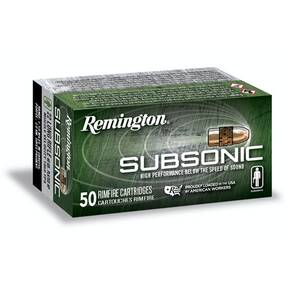 Remington Subsonic Rimfire Ammunition .22 LR 40gr HP 1050 fps 50/ct