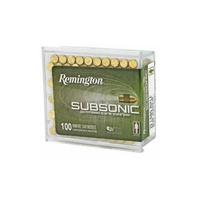 Remington Subsonic Rimfire Ammunition .22 LR 40gr HP 1050 fps 100/ct