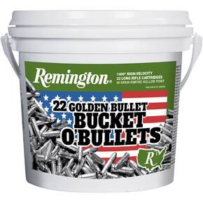 Remington Bucket of .22 LR High Velocity 36 gr CPHP Rimfire Ammo - 1400/ct
