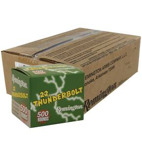 Remington .22 Thunderbolt Rimfire Ammunition .22 LR 40 gr RN 5000/case