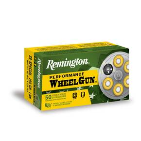 Remington Wheelgun Ammunition .38 Spl 158gr LRN 755 fps 50/ct