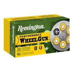 Remington Performance Wheel Gun Ammunition .45 Colt 250 gr LRN 830 fps 50/ct