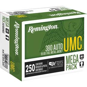 Remington UMC Handgun Ammunition .380 ACP 95 gr FMJ  250/box