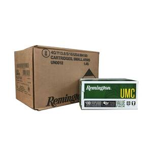 Remington UMC Metal Case Handgun Ammunition 9mm Luger 115 gr FMJ 1145 fps 600/ct