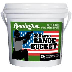 Remington UMC Range Bucket Handgun Ammunition .380 Auto 95 gr FMJ 955 fps 300/ct